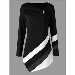 Ženska majica u plus veličina sa trakama - 5 boja