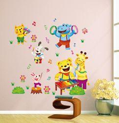 Dětská samolepka na zeď s veselými zvířátky