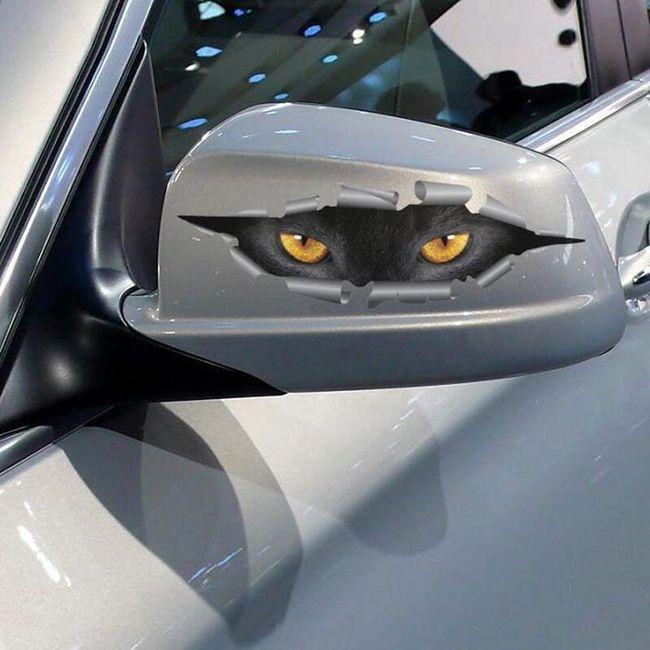Autocolant pentru oglinzi - Ochi de pisică 1