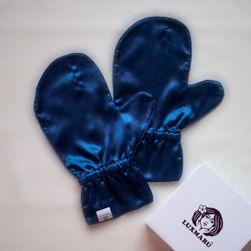 Luxusní hedvábné rukavičky pro omlazení pleti - MODRÉ M
