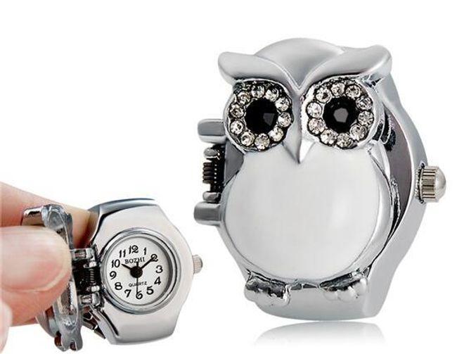 Prstýnkové hodinky se sovou - 3 barvy 1