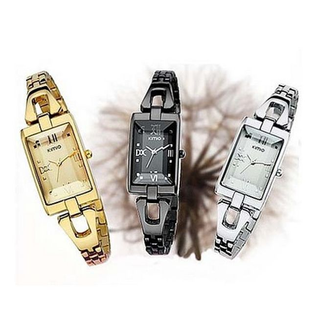 Dámské elegantní hodinky KIMIO s obdélníkovým ciferníkem - ve 2 barvách 1