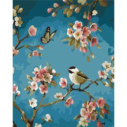 Festés számok alapján - egy madár a fán