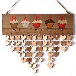 Dřevěný narozeninový kalendář