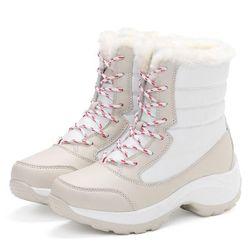 Ženski čevlji z umetnim krznom - 4 različice Bež-6