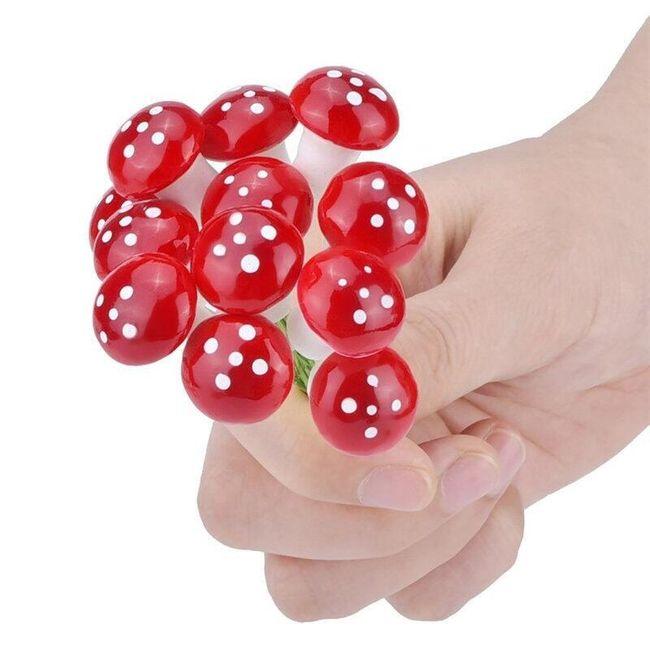 Set de ciuperci decorative - 10 bucăți 1