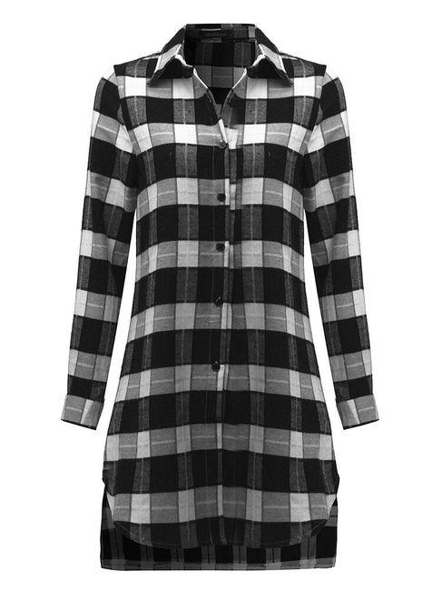 Hosszú kockás ing nők számára  sokféle - 3 színben