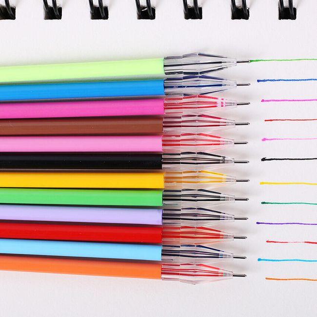 Sada 12 barevných gelových per 1