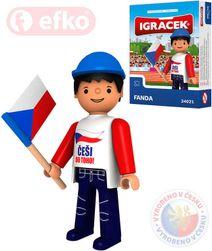IGRÁČEK Fanda hokejová figurka 7,5cm v krabičce STAVEBNICE SR_225880