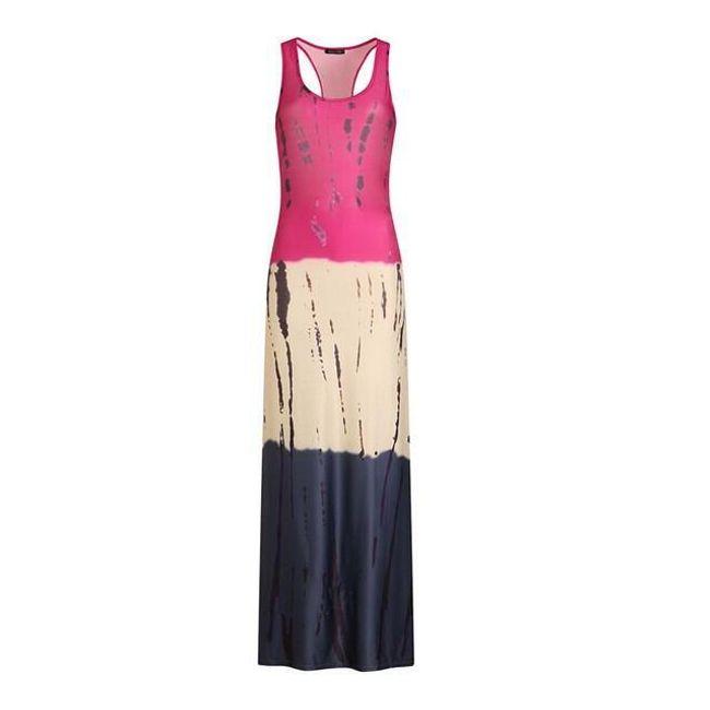 Dlouhé letní šaty Becky - c3588 10-L/XL 1