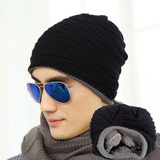 Férfi téli kalap sötét színekben