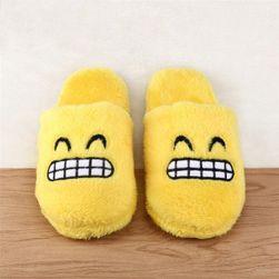 Plišane papuče sa smajlićima - različite vrste
