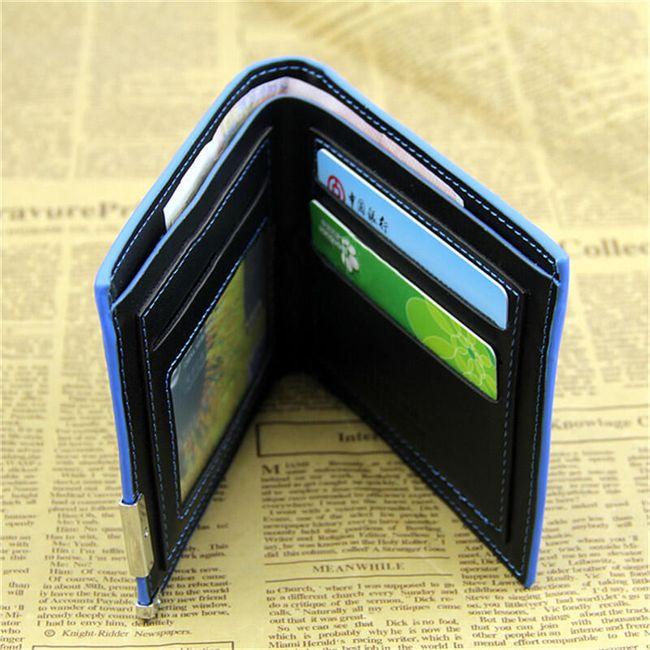 Férfi pénztárca kék részlettel