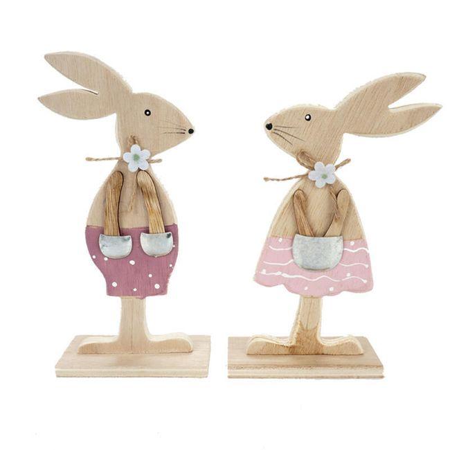Velikonoční dřevěný králíček - 2 varianty 1
