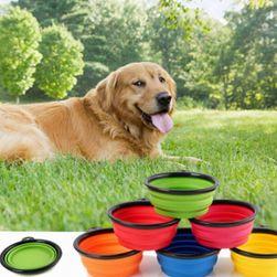 Skládací cestovní miska pro psy
