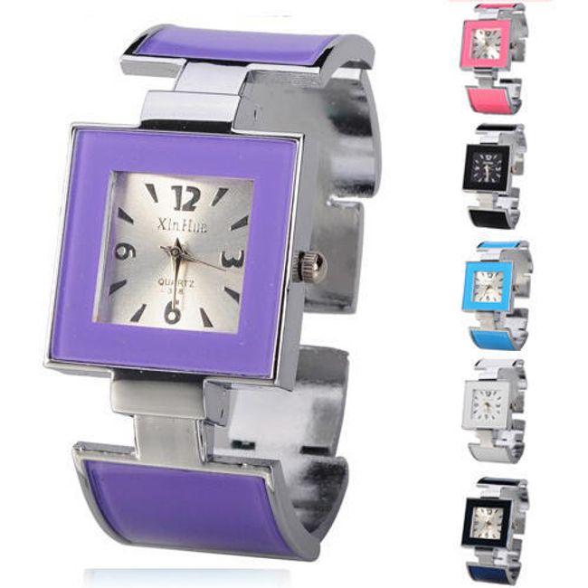 Čtvercové náramkové hodinky - 6 barev 1