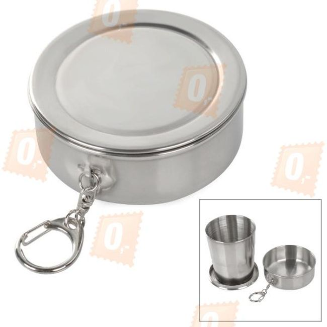 Rozsdamentes acél összecsukható kültéri pohár - 250 ml 1