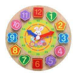 Дървен детски часовник