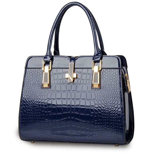 Luksuzna ženska torbica s krokodilskim vzorcem - več barv 1