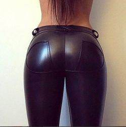 Stylové jednobarevné push up kalhoty