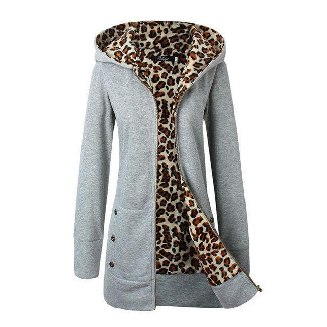 Női pulóver Paola leopárd béléssel