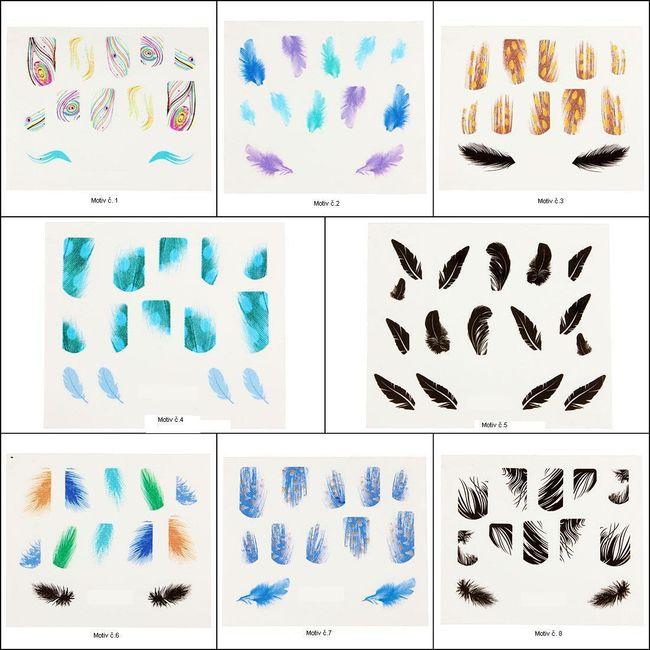 Samolepky na nehty - různé motivy 1