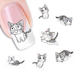 Наклейки на ногти- Кошечки