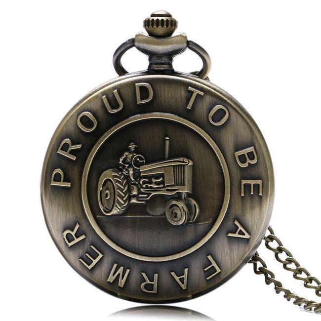 Vintage kapesní hodinky pro farmáře a zemědělce 1