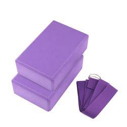 Blokovi i kaiševi za jogu ili pilates - 6 boja