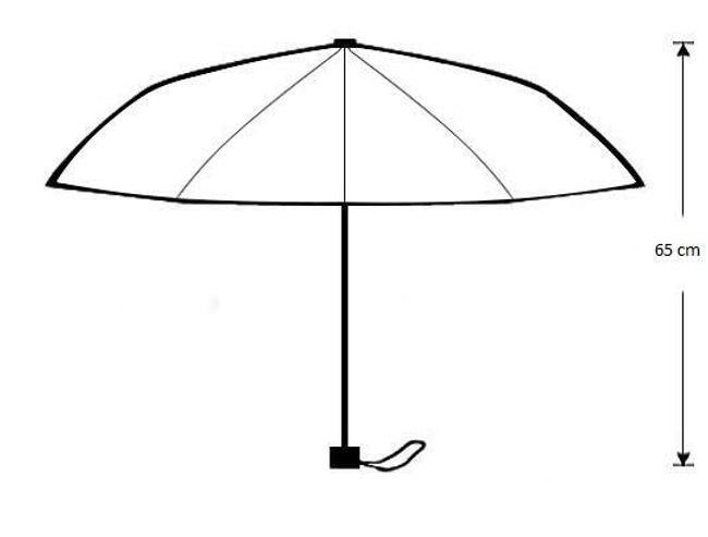Összecsukható esernyő mopsz motívummal
