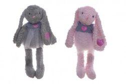 Králik / králiček sa sukienkou plyš 60cm 2 farby v sáčku 0+ RM_56800078