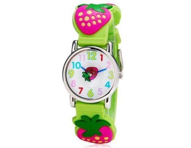 Dziewczęcy zegarek z silikonowym paskiem - 5 typów 1