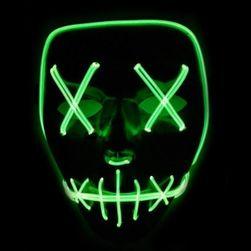 Maska se světelným efektem - The Purge (Zelená) SR_DS14343686