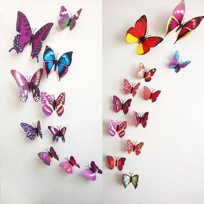 Декорации в виде бабочек - разные цвета 1
