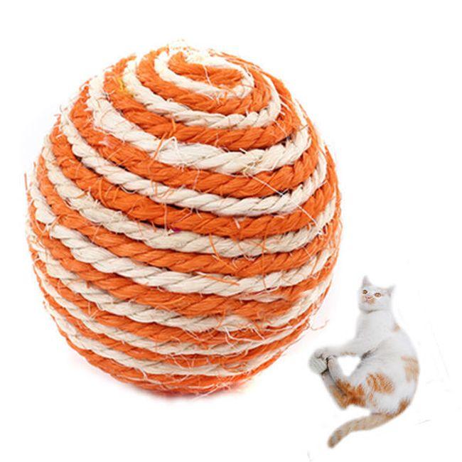 Sisálový hrací míček pro kočky a psy 1
