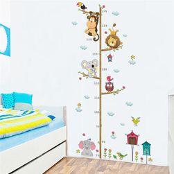 Naklejka na ścianę - mierząca wysokość dzieci
