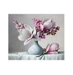 Magnolie - pictură după cifre