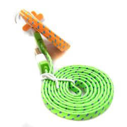 Pletený plochý kabel pro iPhone 4/4S - různé barvy a délky