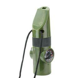 7w1, gwizdek z termometrem, kompasem i latarką