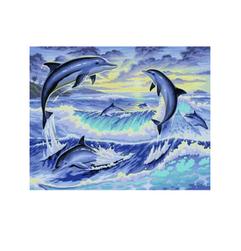 Delfini - pictură după numere