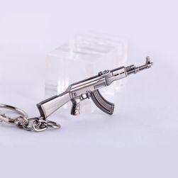 Klíčenka ve tvaru zbraně - několik druhů