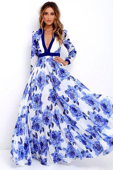 Okouzlující šaty s květinami na letní večery - velikost č. 5 1