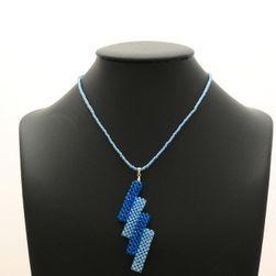 Korálkový náhrdelník modré tyčky