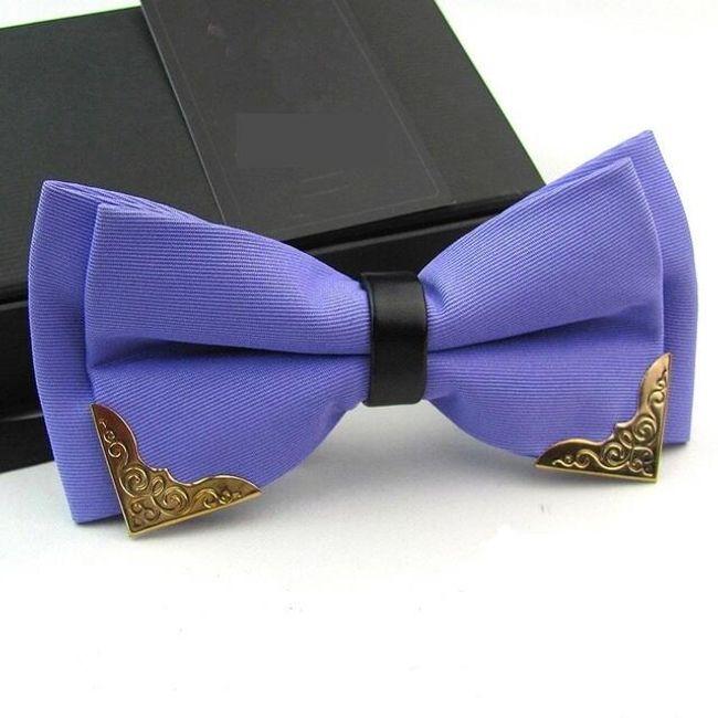 Csokornyakkendő fém díszítéssel - 18 szín