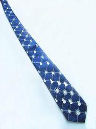 Hedvábná ručně malovaná kravata Sněhuláci
