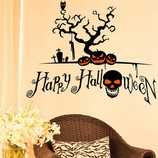 Fal dekoráció - boldog Halloween 1