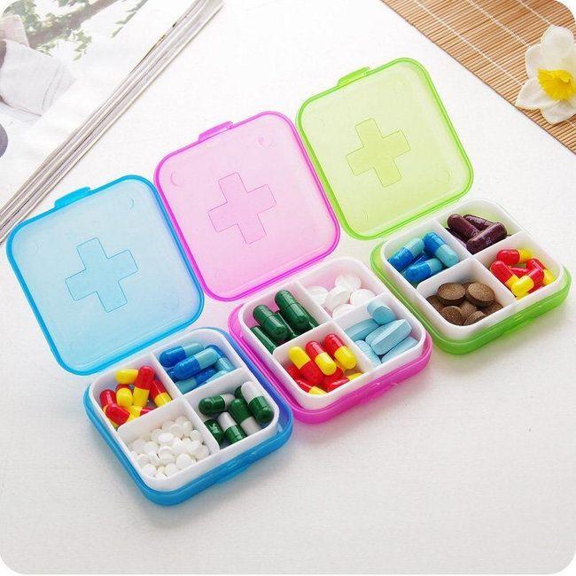 Škatla za zadravila - 4 predelki 1