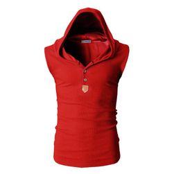 Pánská vesta s kapucí - 8 barev