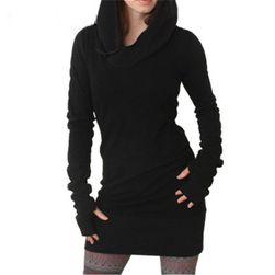 Rochie în design hanorac - negru