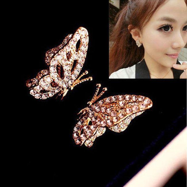 Náušnice motýlci 1